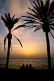 Setting Greek sun Royalty Free Stock Photo