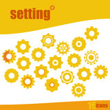 Setting Icon Set Illustration Royalty Free Stock Image