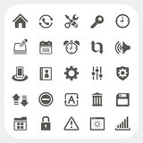 Setting icons set Royalty Free Stock Images