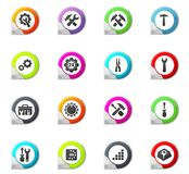 Setting icons set Royalty Free Stock Images