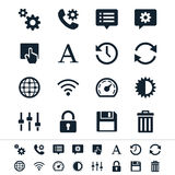 Setting icons. Simple  icons. Clear and sharp. Easy to resize. No transparency effect. EPS10 file Stock Images