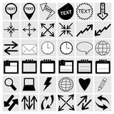 Setting icons Royalty Free Stock Photography