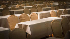 Setting many seat and table in conference room Royalty Free Stock Image