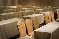 Setting many seat and table in conference room Royalty Free Stock Photo