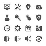 Setting menu icon set, vector eps10.  Stock Photography