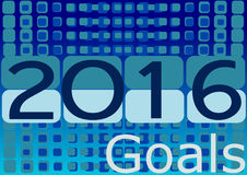 Setting new goals by 2016. Royalty Free Stock Images