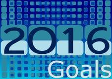 Setting new goals by 2016. Setting new goals by 2016, template Royalty Free Illustration