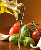 Setting with olive oil Stock Photography
