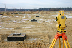 Setting out on construction si Stock Photos