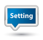 Setting prime blue banner button Stock Images