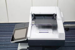 Setting printer prepare for document printing Stock Images