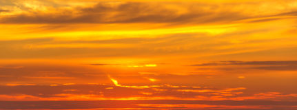 Setting red summer sun Royalty Free Stock Images