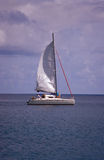 Setting sail. Anse Lazio, Praslin, Seychelles Royalty Free Stock Photo