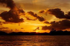 Setting sun Royalty Free Stock Images