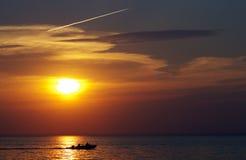 The setting sun Stock Photo