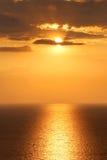 Setting sun, Crimea stock image