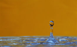 Sun and Iced Water Drop Stock Images