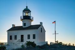 Sunlight Beacon at the Point Loma Lighthouse stock photos