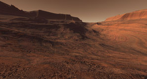 Setting sun on Mars Royalty Free Stock Photography