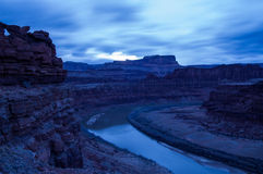 Setting sun over the Colorado River Stock Images