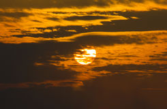 The setting sun Stock Image