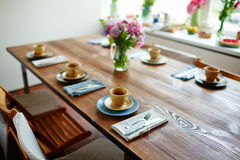 Setting table for brunch Royalty Free Stock Photography