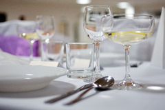 Setting tables for graduations Royalty Free Stock Image