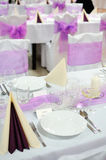 Setting tables for graduations Royalty Free Stock Photos