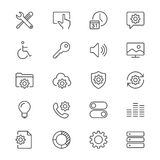 Setting thin icons. Simple, Clear and sharp. Easy to resize Royalty Free Stock Photos