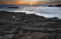 Setting tide Stock Image