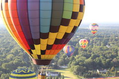 Setting up the balloons for a morning flight at festival Royalty Free Stock Images