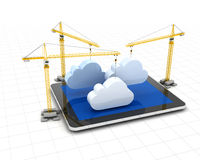 Setting up cloud storage Royalty Free Stock Photo