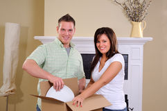 Setting Up Home Royalty Free Stock Image