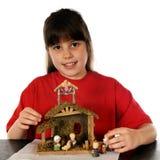 Setting-up a natividade Foto de Stock Royalty Free