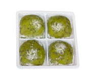 Japanese daifuku, green tea flavour. Royalty Free Stock Images