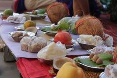 Setting ups for Hindu prayers - India Stock Photo