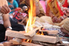 Setting ups for Hindu prayers - India Royalty Free Stock Images