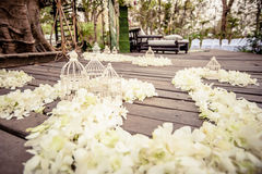 Setting wedding in Thailand. Royalty Free Stock Images