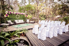 Setting wedding in Thailand. Royalty Free Stock Photo