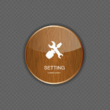 Setting wood application icons Royalty Free Stock Images