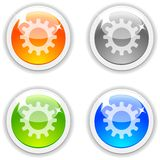 Settings buttons. Stock Photo