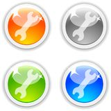 Settings buttons. Royalty Free Stock Images