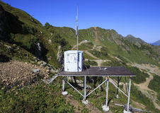 Settings for the connection in the mountains. Of Krasnaya Polyana Stock Photo