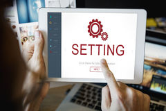 Settings Electronic Device Homepage Concept Royalty Free Stock Photos