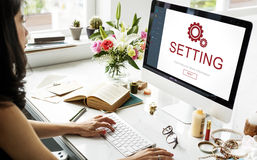 Settings Electronic Device Homepage Concept Stock Photography