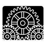 Settings engine icon, vector illustration, black sign on isolated background Stock Images