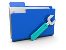 Settings folder Royalty Free Stock Photos