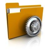 Settings folder Royalty Free Stock Image