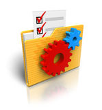 Settings folder icon. Isolated over white background Royalty Free Stock Image