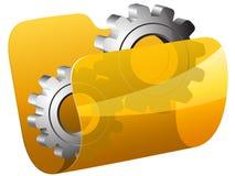 Settings folder vector illustration. In eps 10 Stock Photos